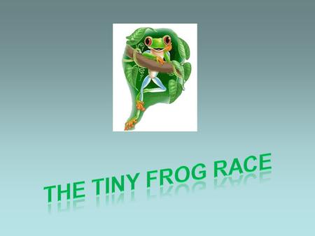 There once was a bunch of tiny frogs,... … who arranged a running competition.