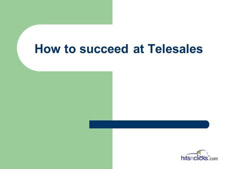 How to succeed at Telesales. What is an Entrepreneur? Entrepreneur n. a business man or woman of positive disposition who attempts to make profit from.