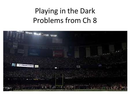 Playing in the Dark Problems from Ch 8. The OS2 story Introduced by IBM in 1987 to compete with MS Windows. Faster and more reliable than Windows but.