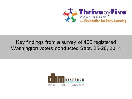 Key findings from a survey of 400 registered Washington voters conducted Sept. 25-28, 2014.
