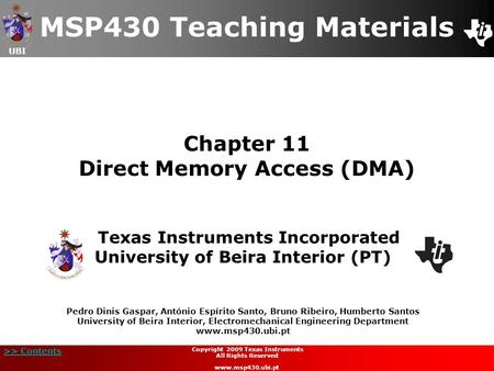 Chapter 11 Direct Memory Access (DMA)