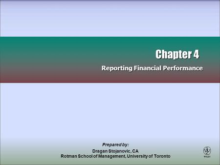 Chapter 4 Reporting Financial Performance