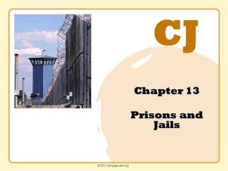 CJ © 2011 Cengage Learning Chapter 13 Prisons and Jails.