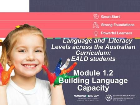 Language and Literacy Levels across the Australian Curriculum: EALD students Module 1.2 Building Language Capacity.