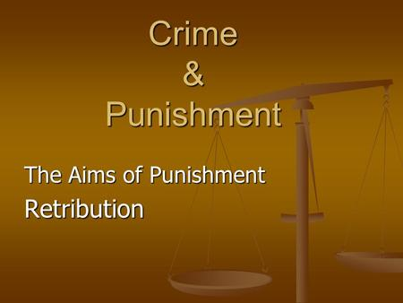 a look at five aims of punishment