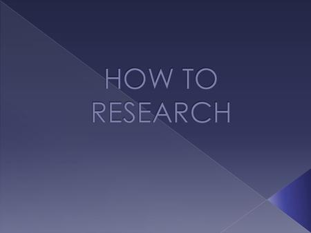  Do I know my topic for research? (Do I have my topic chosen before I get on a computer? If not, I have to make that decision and write it down first.