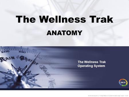 The Wellness Trak ANATOMY The Wellness Trak Operating System © 2005 IDS Solutions Inc. All Rights Reserved Duplication for resale is illegal Version1.1.