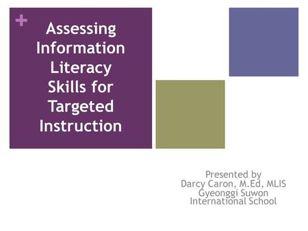 Assessing Information Literacy Skills for Targeted Instruction