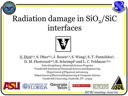 Radiation damage in SiO2/SiC interfaces