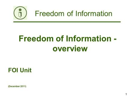 freedom of information act 2011