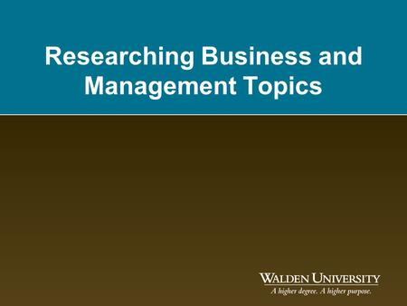 Researching Business and Management Topics. Introductions! Your hosts – Susan Stekel (speaking) – Michelle Hajder (chatting) –QUESTIONS? –Type them in.