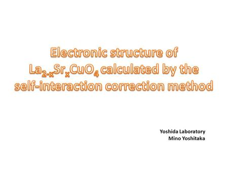Electronic structure of La2-xSrxCuO4 calculated by the
