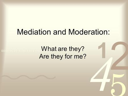 the importance of mediation