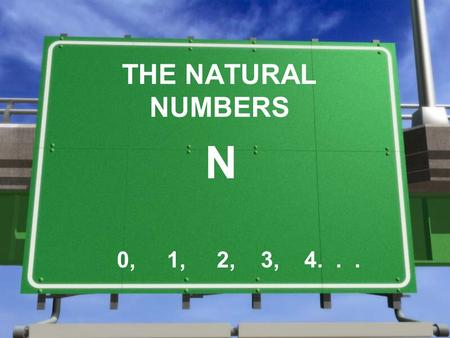 THE NATURAL NUMBERS N 0, 1, 2, 3, 4.... 1.- EVOLUTION OF NUMBERS »The numbers appeared due to the necessity of counting. »Primitive societies created.