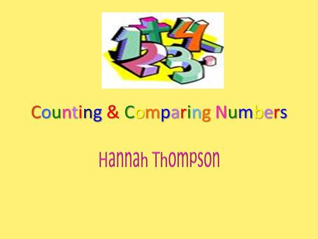 Counting & Comparing NumbersCounting & Comparing NumbersCounting & Comparing NumbersCounting & Comparing Numbers.