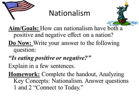 negative effects of nationalism essay An essay or paper on the effects of nationalism in latin american nations look at the effect of nationalism on the effect a positive one or a negative.