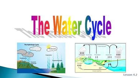 The Water Cycle Lesson 4.2.