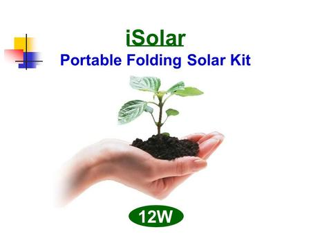ISolar Portable Folding Solar Kit 12W. Packing Size : 26.5 x 21 x 5 cm (10.4 x 8.3 x 2 in)