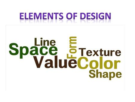 Elements of Design.