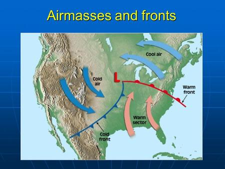 Airmasses and fronts. Review of last lecture Tropical cyclone structure: 3 major components, rotation direction of inflow and outflow, location of maximum.