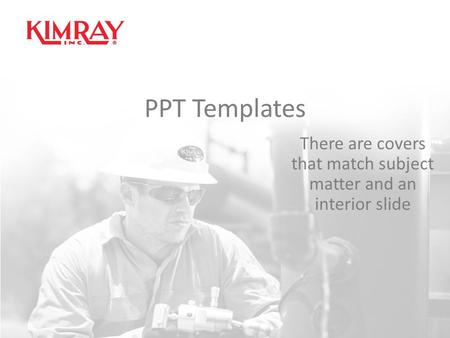 PPT Templates There are covers that match subject matter and an interior slide.