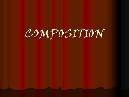 COMPOSITION. THE most important thing! This is one of the most important things that you can learn as an artist! This is one of the most important things.