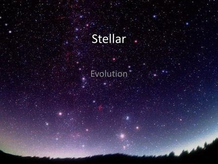 Stellar Evolution. The stellar evolution involves two opposite forces: on one side, the star's mass produces the force of gravity, which leads to a contraction,