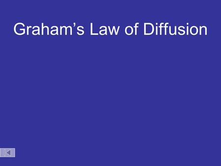 Graham's Law of Diffusion HCl NH 3 100 cm NH 4 Cl(s) Choice 1: Both gases move at the same speed and meet in the middle.