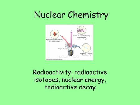 radioactive dating in nuclear chemistry Nuclear chemistry 1 what are radioactive elements the radioactive elements are the elements that its don't have a stable nucleus these elements give off particles and/or rays to change their nucleus and become a stable element.