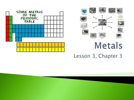 Metals Lesson 3, Chapter 3.