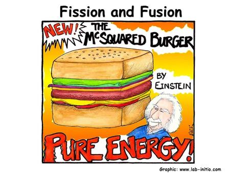 Fission and Fusion Graphic: www.lab-initio.com. Energy and Mass Nuclear changes occur with small but measurable losses of mass. The lost mass is called.