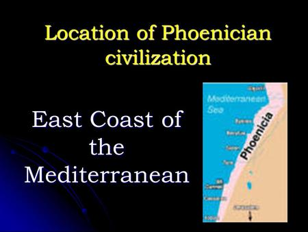 Location of Phoenician civilization