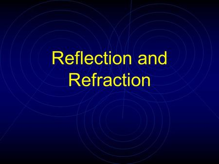 Reflection and Refraction. Recall Huygen's work: Each point on a wavefront acts like a source of point waves… The constructive and destructive interference.