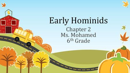 Chapter 2 Ms. Mohamed 6th Grade