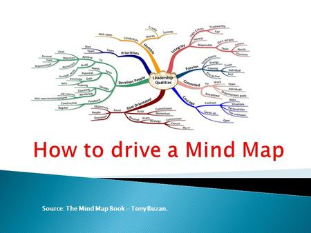 Source: The Mind Map Book – Tony Buzan..  1º Use Emphasis  Always use a central Image.  Use Images throughout your Mind Map.  Use three or more colours.