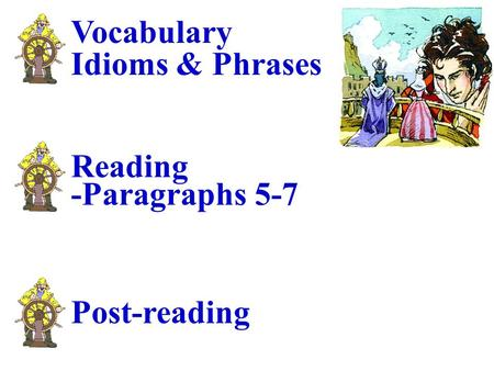 Vocabulary Idioms & Phrases Reading -Paragraphs 5-7 Post-reading.