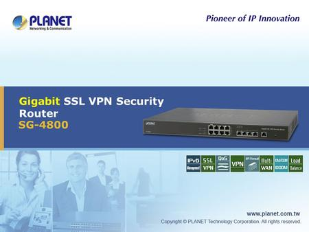 Gigabit SSL VPN Security Router