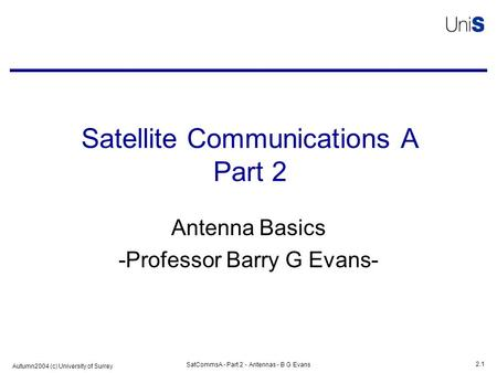 Satellite Communications A Part 2