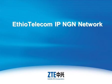 EthioTelecom IP NGN Network. For Internal Use Only ▲ Internal Use Only ▲ Course Objectives Getting familiar with the topology of IPNGN network Explain.