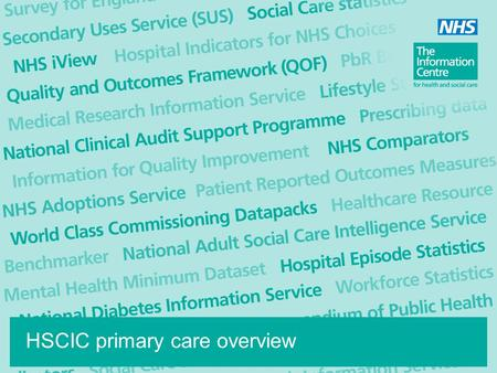 HSCIC primary care overview