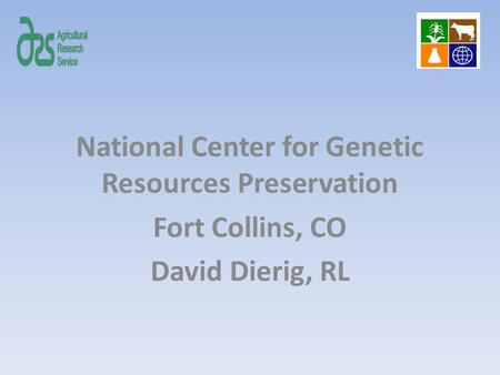 National Center for Genetic Resources Preservation