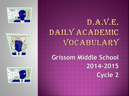Grissom Middle School 2014-2015 Cycle 2.  Definition:  To draw a conclusion after considering specific evidence or facts  Sentence(s): infer  Students.