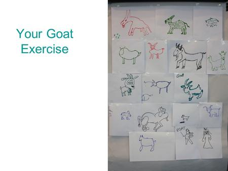 Your Goat Exercise. If the goat is drawn toward the top of the paper you are a positive & optimistic person. If the goat is drawn toward the bottom of.