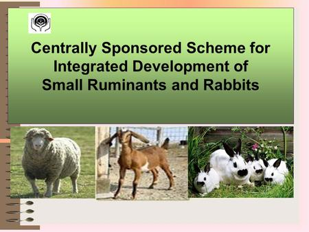 Centrally Sponsored Scheme for Integrated Development of Small Ruminants and Rabbits 1.
