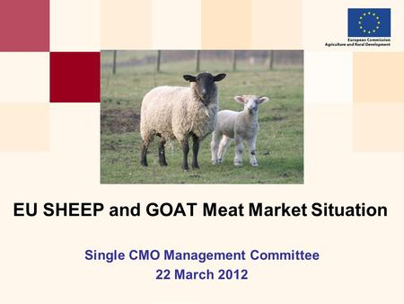 Single CMO Management Committee 22 March 2012 EU SHEEP and GOAT Meat Market Situation.