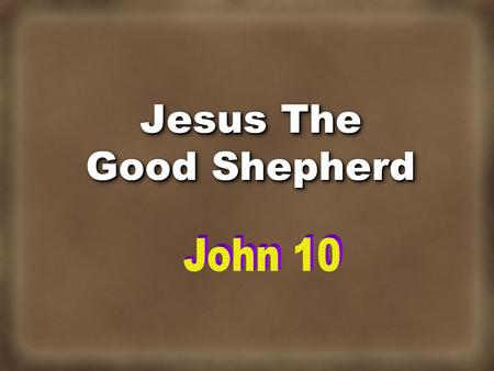 Jesus The Good Shepherd. Many Were Shepherds Then Pharaoh said to his brothers, What is your occupation? And they said to Pharaoh, Your servants are.