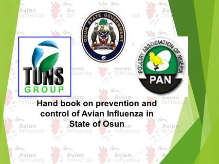 Hand book on prevention and control of Avian Influenza in State of Osun.