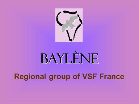 Baylène Regional group of VSF France. Some keywords about Baylène…  Registered association about sustainable development  Related to VSF France  Weekly.