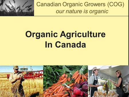 Organic Agriculture In Canada Canadian Organic Growers (COG) our nature is organic.