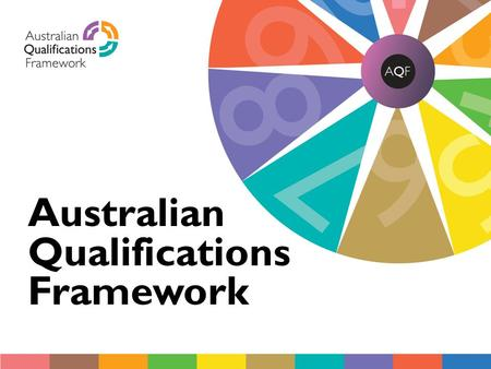 AQF cover Australian Qualifications Framework. ANZAM Institutional Members Meeting Canberra, 15 June 2012 Presented by: Di Booker Director (Policy) AQF.